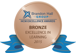 Brandon Hall Group. Excellence in Learning Awards Bronze 2015.