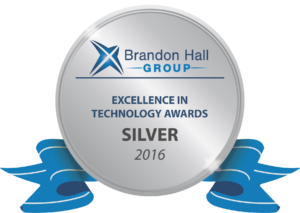 Brandon Hall Group. Excellence in Technology Awards Silver 2016.